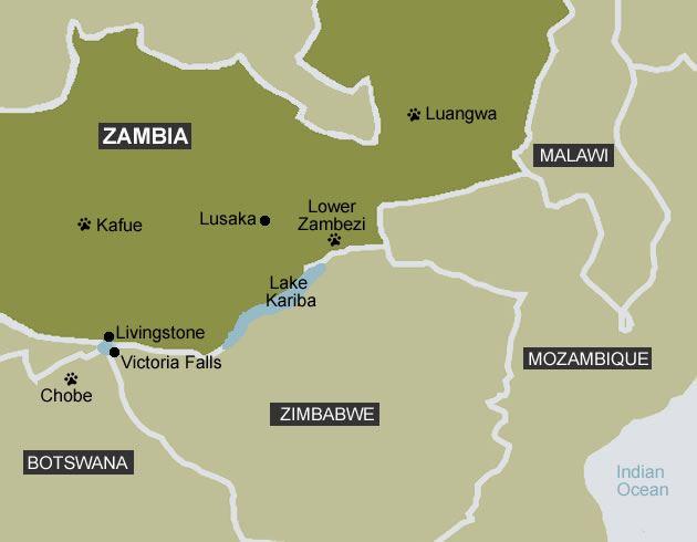 Image Gallery of Victoria Falls Zambia Map