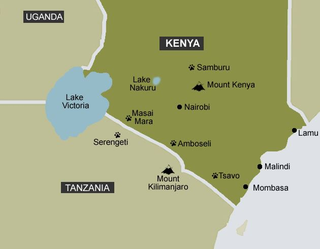 Map of Kenya Map Masai Mara Map Best Hotels & Lodges Mombasa & Kenya