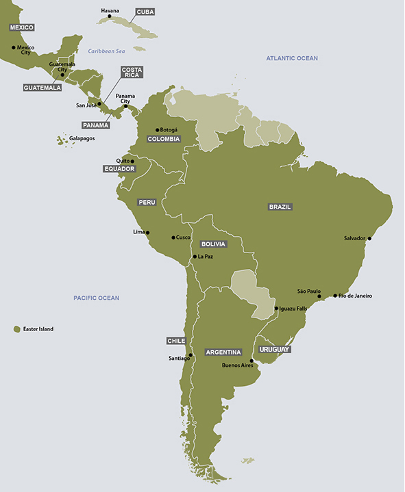 Maps Update 574737 Map of South America and Mexico Geo Map – Map of South Mexico